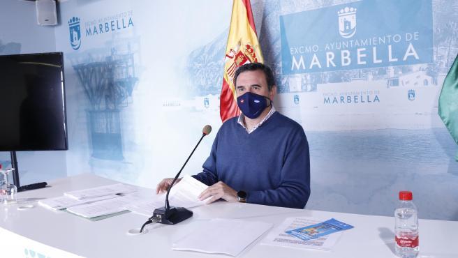 El concejal portavoz del Ayuntamiento de Marbella, Félix Romero