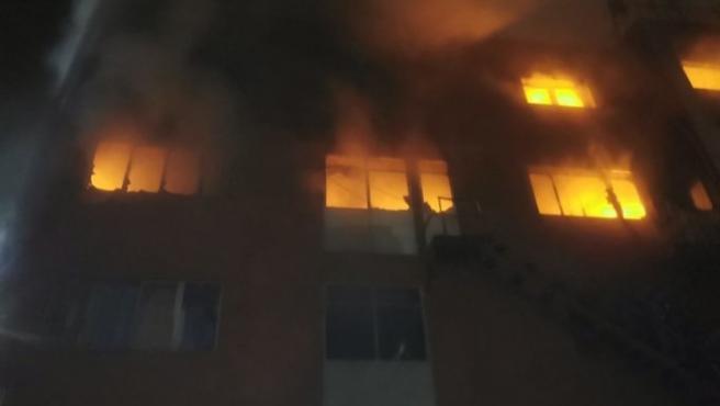 Incendio en Badalona.