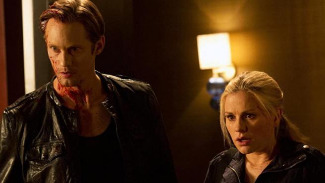 Alexander Skarsgard y Anna Paquin en 'True Blood'