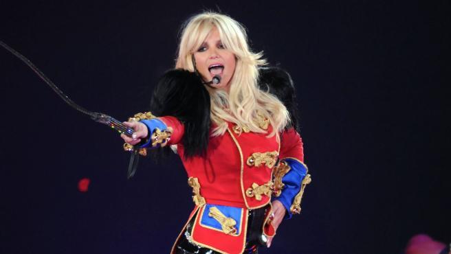 La cantante Britney Spears, durante una actuación.