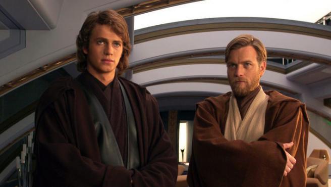Hayden Christensen y Ewan McGregor en 'Star Wars'