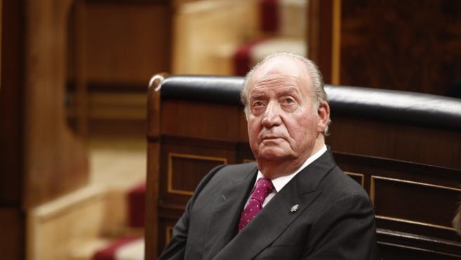 Imagen de archivo de 2018 de don Juan Carlos, en el Congreso de los Diputados.