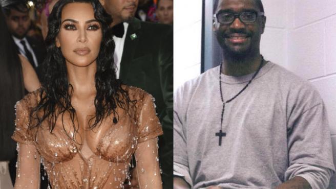 Kim Kardashian and the executed convict Brandon Bernard.