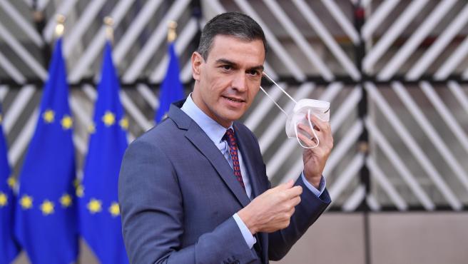 Pedro Sánchez, en la cumbre de la UE en Bruselas.