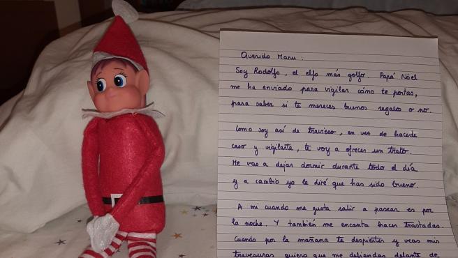 Rodolfo, el elfo más golfo, en su primera visita.