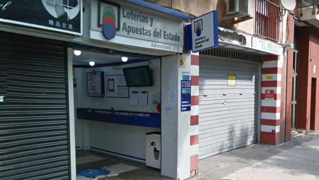 Administración de Loterías de Santa Coloma de Gramenet, en Barcelona.