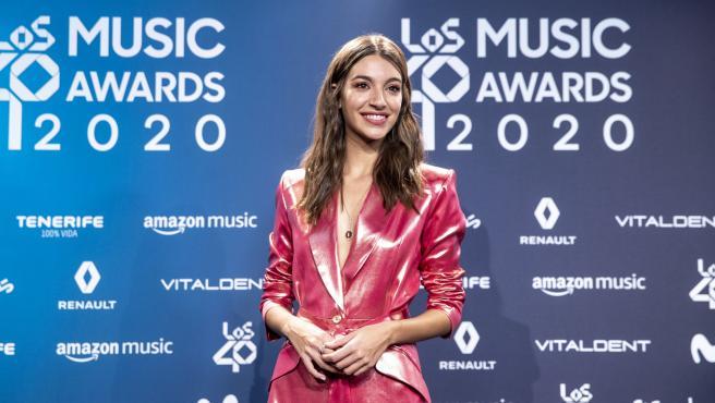 Ana Guerra en el 'photocall' de Los40 Music Awards.