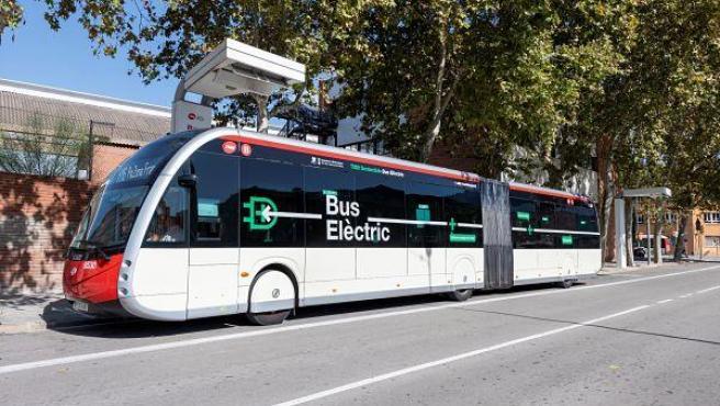 Autobús eléctrico de Transportes Metropolitanos de Barcelona (TMB)