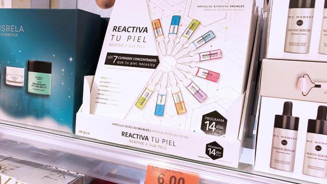 El tratamiento Reactiva tu piel, en el lineal de Mercadona.