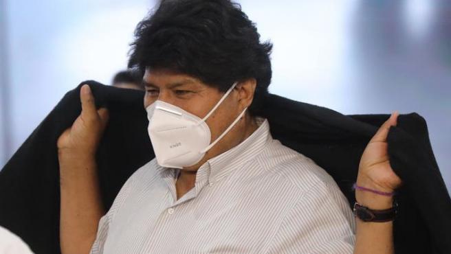 El expresidente de Bolivia Evo Morales, en Caracas (Venezuela).