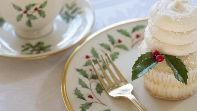 Un cupcake típicamente navideño.
