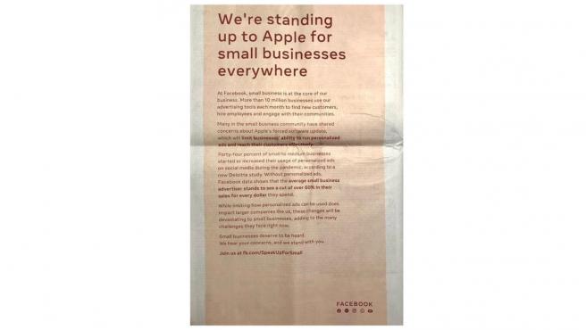 Uno de los anuncios publicados en la prensa de EEUU.