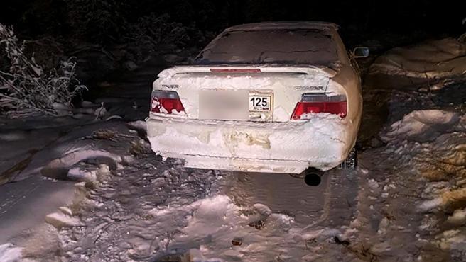El coche se averió en la zona más fría del mundo.
