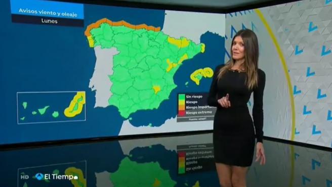 La presentador del tiempo de Antena 3, Himar González.