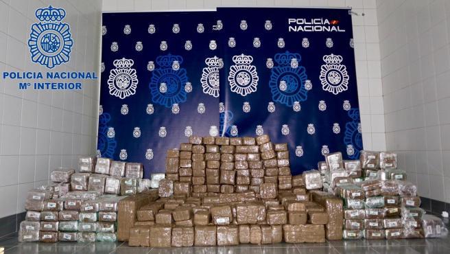 Hachís incautado en una operación contra la distribución de droga en el norte de España
