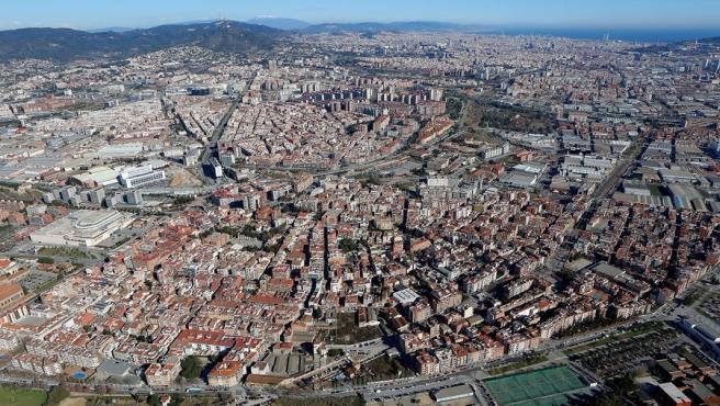 Foto áerea del área metropolitana de Barcelona