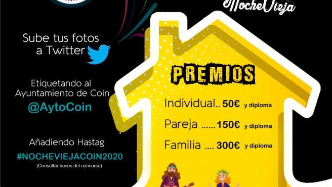 Concurso de disfraces en casa de Coín en nochevieja de 2020