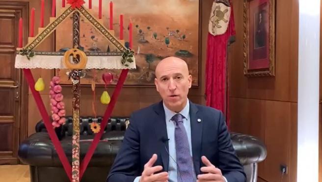 Captura del vídeo con el mensaje del alcalde de León.