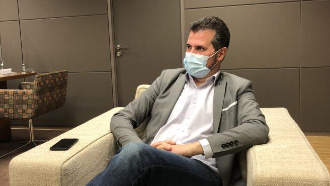 El secretario autonómico del PSOE, Luis Tudanca, en una entrevista a Europa Press