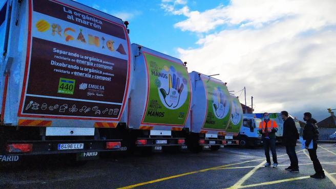 Incorporación a la flota de Emulsa de cuatro camiones recolectores de residuos