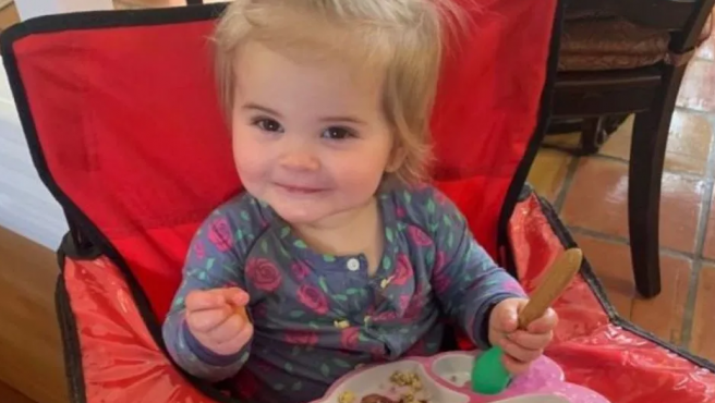 La pequeña Reese Smith, de 17 meses.