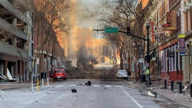 Daños en la explosión de Nashville.
