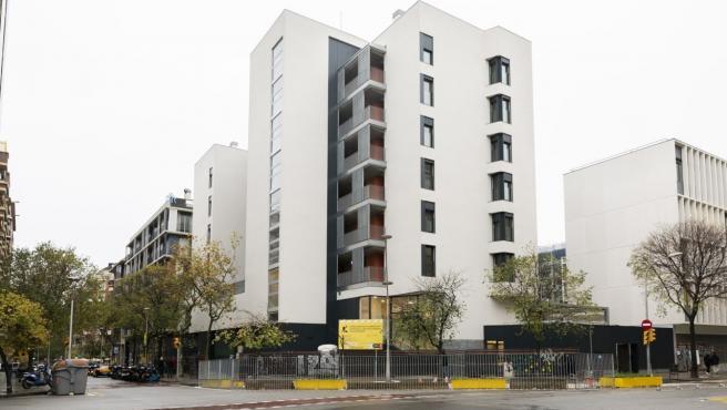 Espai Germanetes, con 35 pisos de alquiler social en el Eixample de Barcelona.