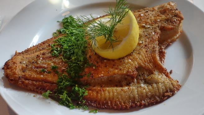 El lenguado es uno de los pescados de temporada en enero.