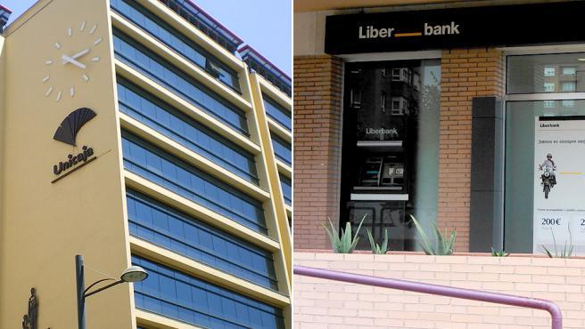 Edificios de Unicaja y Liberbank.