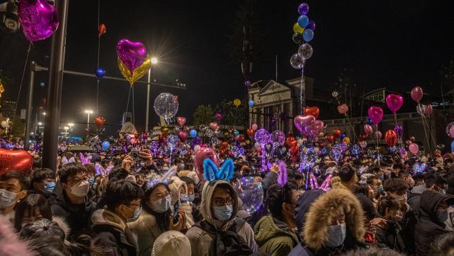 Celebraciones del nuevo año en Wuhan.