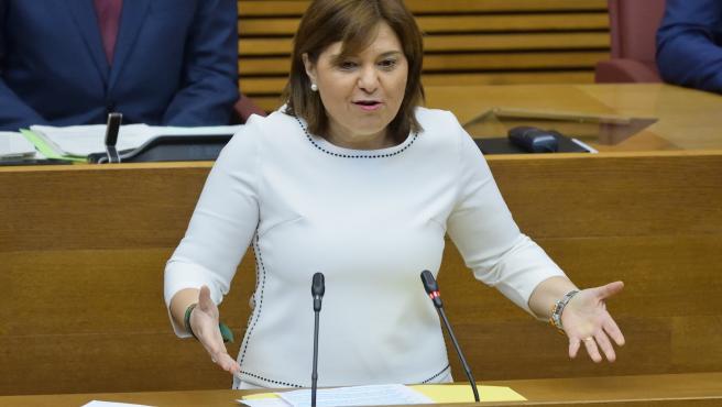 La presidenta del PPCV y portavoz 'popular' en las Corts Valencianes, Isabel Bonig, en una imagen reciente.
