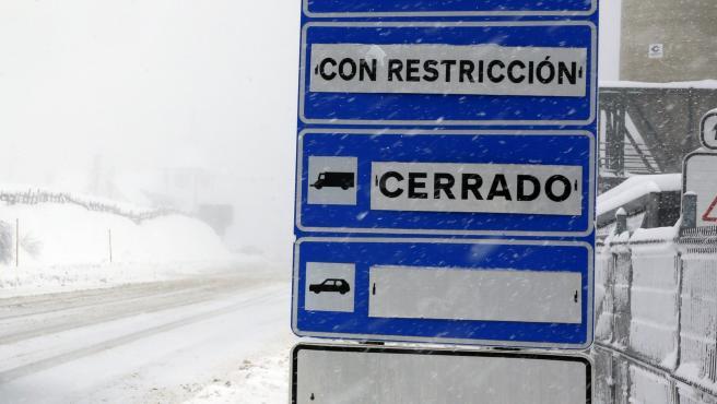 Foto: DAMIAN ARIENZA, Gijon, Asturias, 22 Enero 2019 nacional n-630 Gijón-Sevilla, Puerto de Pajares, Asturias, nieve