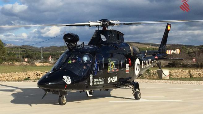 Helicóptero de rescate de la Generalitat