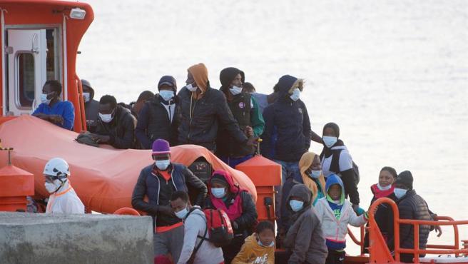 Inmigrantes rescatados al sur de Fuerteventura.