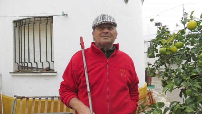 José Rivera, 'Riverita', en su casa de Barbate.