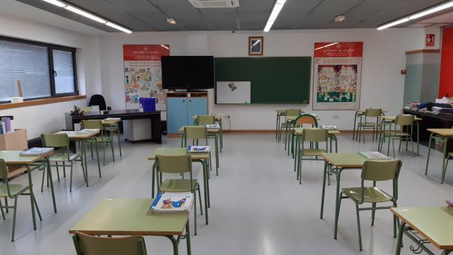 Un aula d'un col·legi de València