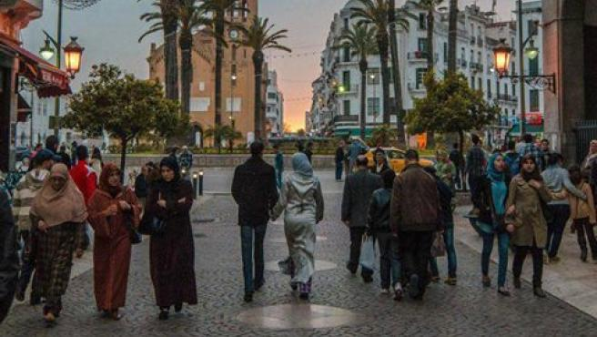 Imagen de archivo de una calle del centro de Tetuán, en Marruecos.