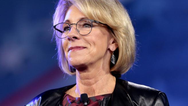 La secretaria de Educación de EE UU, Betsy DeVos.