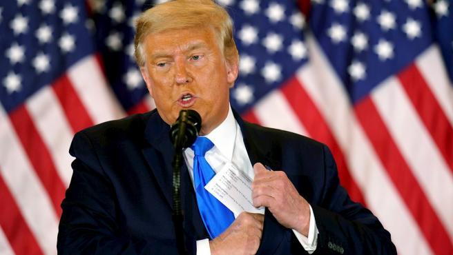 El presidente saliente de EE UU, Donald Trump, en una imagen del pasado mes de noviembre.