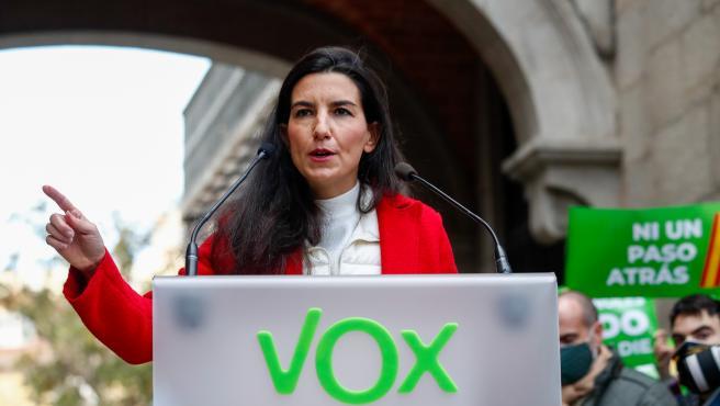 La portavoz de Vox en la Asamblea de Madrid, Rocío Monasterio, en una imagen de archivo.