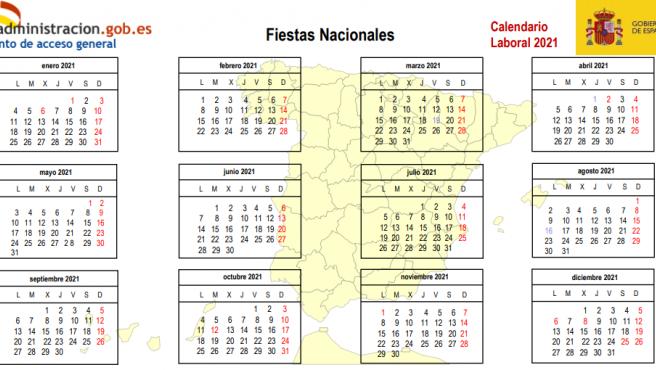 Calendario laboral 2021.