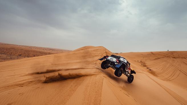 Carlos Sainz, durante el Dakar 2021