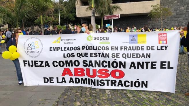 Huelga de empleados de la administración pública en Canarias
