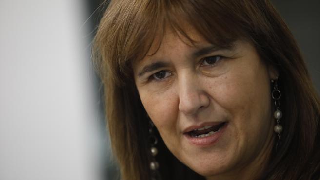La candidata a la Presidencia de la Generalitat del partido de JxCat, Laura Borràs.