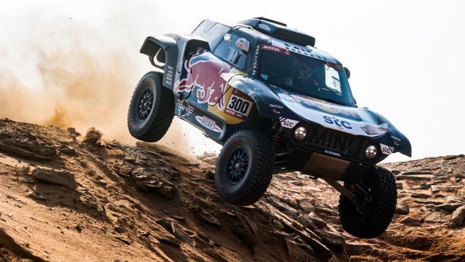 Carlos Sainz, durante el rally Dakar 2021