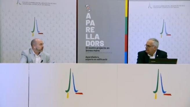 Presentación de los datos de edificación de Girona en 2020 de la mano del presidente del Colegio de Aparejadores de la província