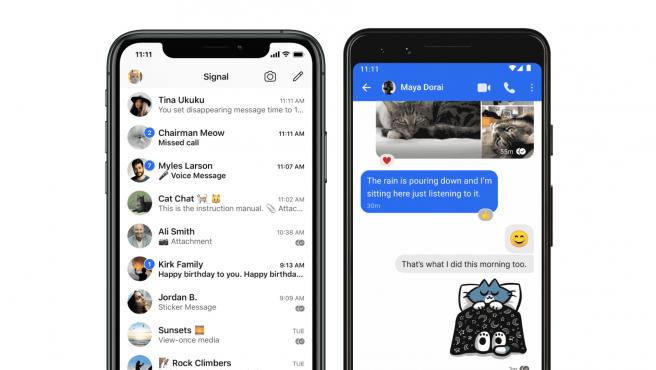 Signal es una app de mensajería multiplataforma que no comparte datos de los usuarios.