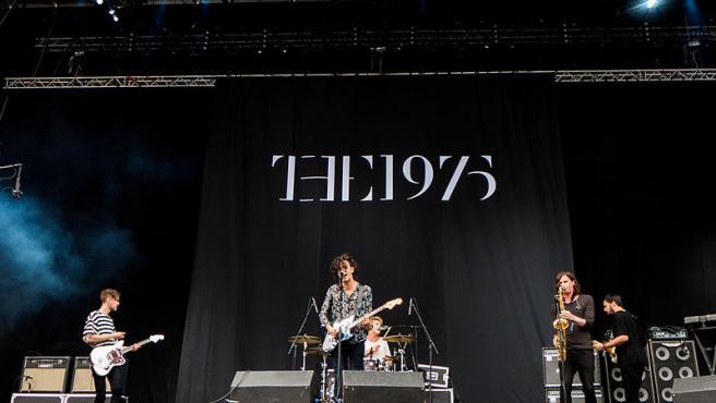 La banda 1975 en uno de los conciertos antes de la pandemia.