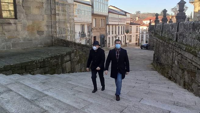 El delegado del Gobierno en Galicia, Javier Losada, y el secretario xeral del PSdeG, Gonzalo Caballero