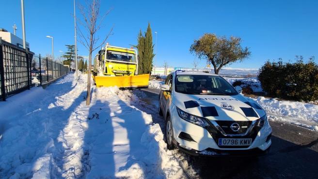 El dispositivo murciano desplegado en Madrid para retirar la nieve atiende más de 570 incidencias